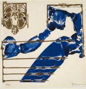 加納光於《五線譜》1967年 レリーフプリント 公益財団法人大川美術館