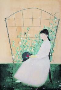 花による少女03