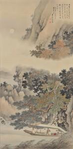 小室翠雲《前赤壁図》