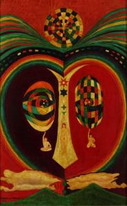 ③金井南龍《竜宮城の花火》1969年 さすら蔵(足利市立美術館寄託)_s